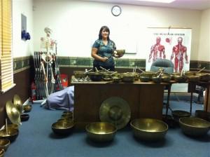 Leiah Carr teaching Sound Massage
