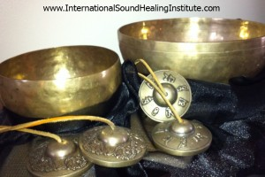 Photo Tibetan Bowls Black Fabric 1